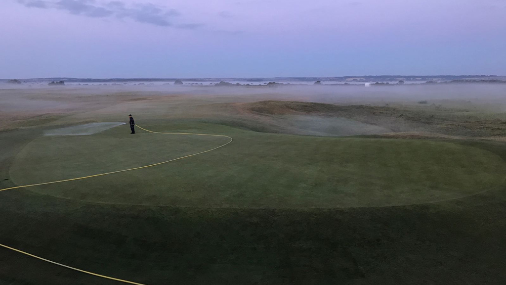Early morning watering at Royal Cinque Ports