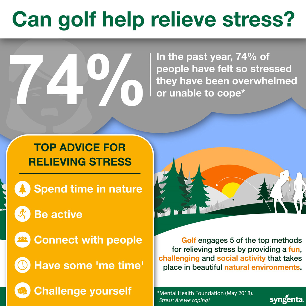 How golf can help relieve stress