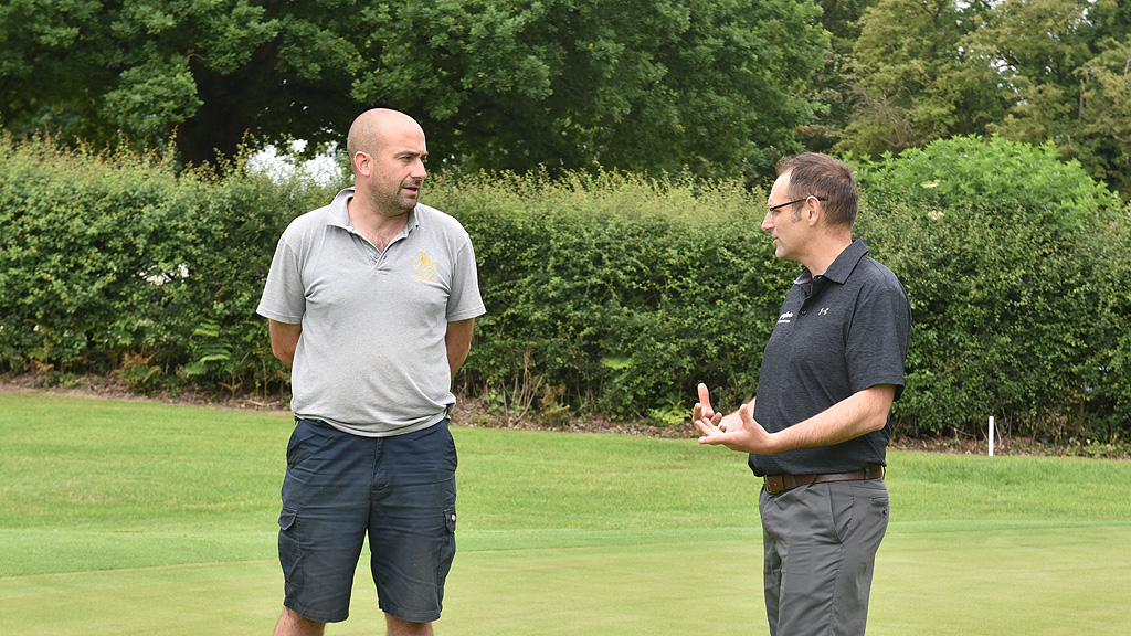 Matt Aplin and Glenn Kirby at Goring and Streatley Golf Club