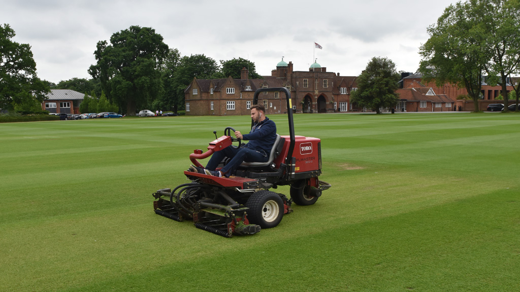 Radley College mowing