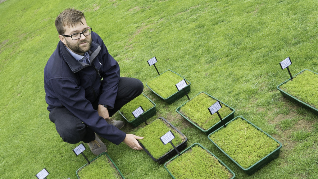 Tom Young of STRI at Turf Science Live Instrata Elite launch