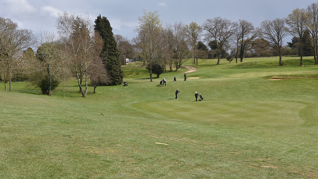 Players on the course at Corhampton