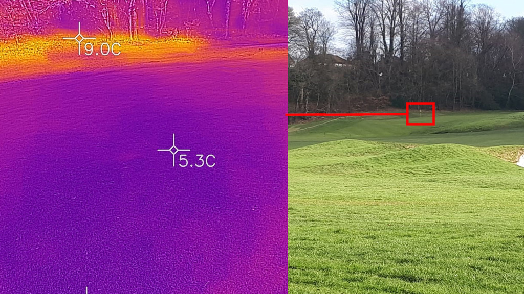 Heat mapping shows effects on shady greens
