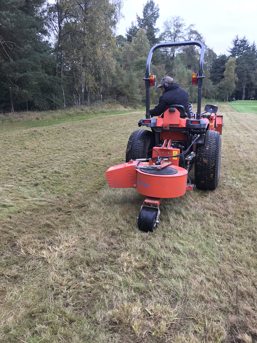 Banchory overseeding wildflower areas with home collected seed