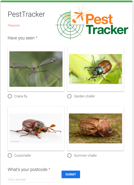Pest Tracker page