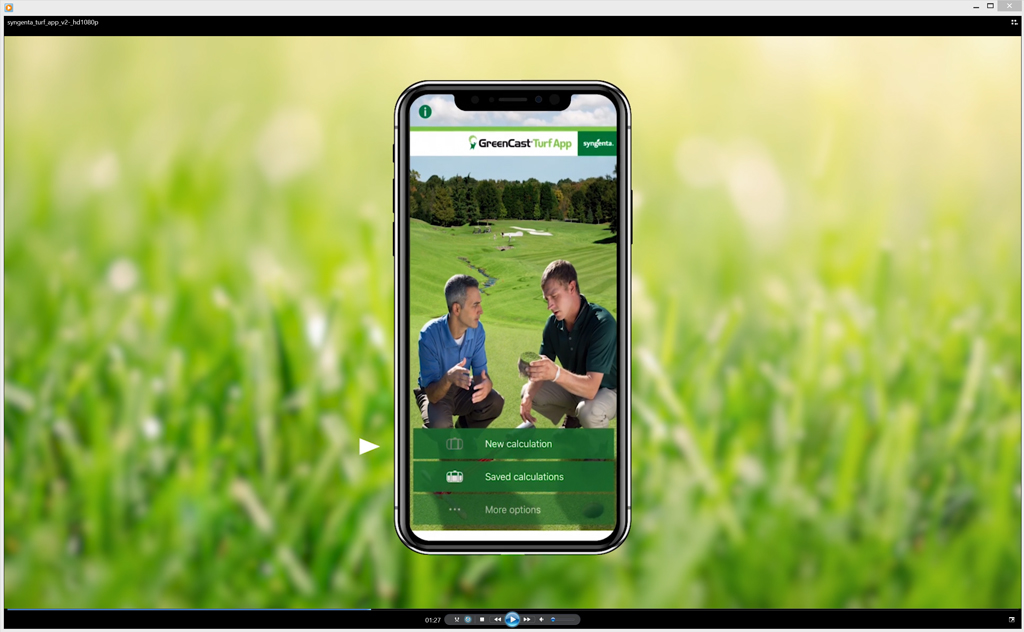 Greencast Tuff App screen