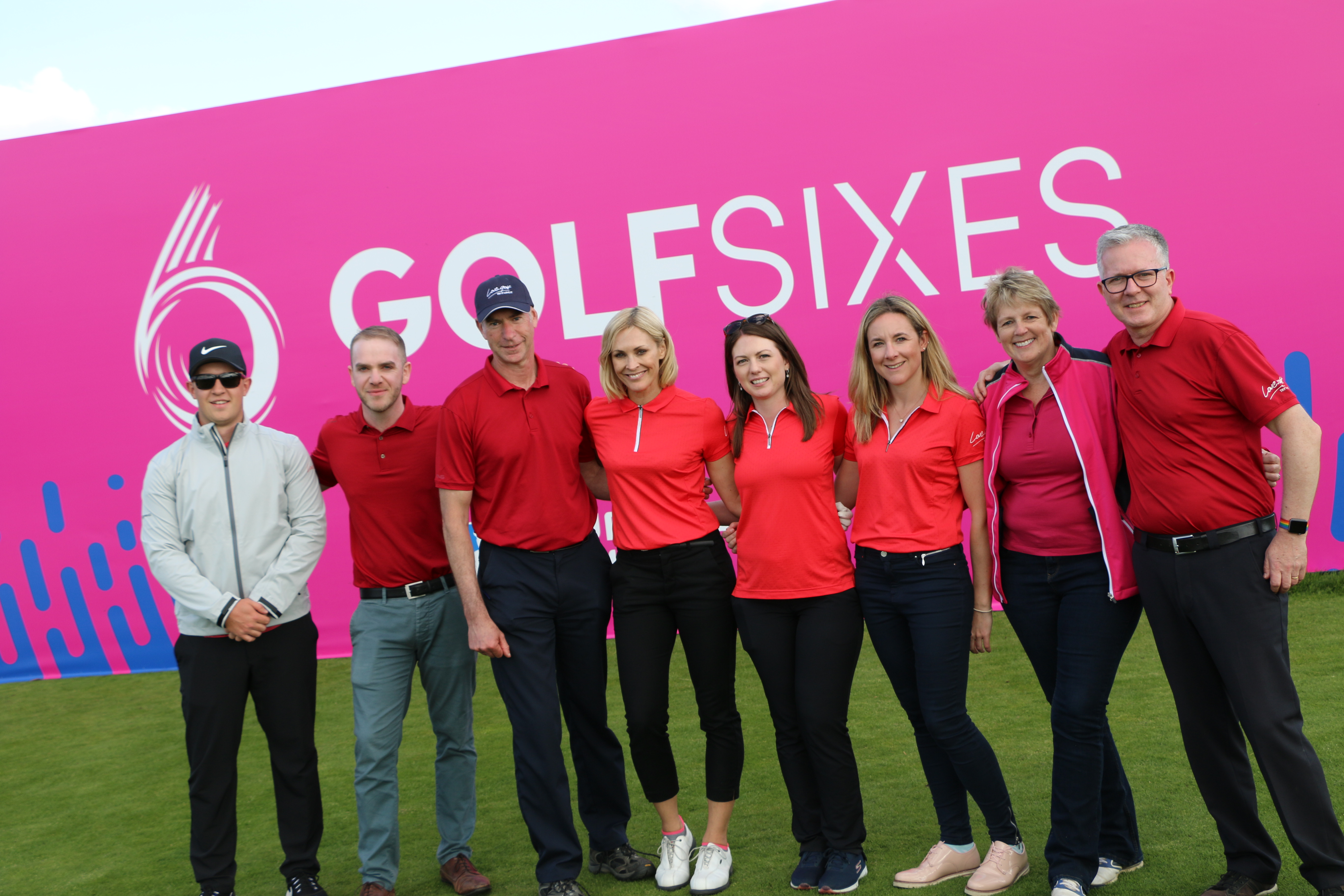 Jenni Falconer and the love.golf team