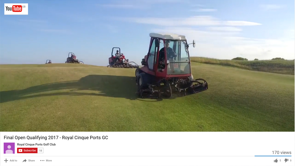 Royal Cinque Ports Open Qualifying preparation YouTube video