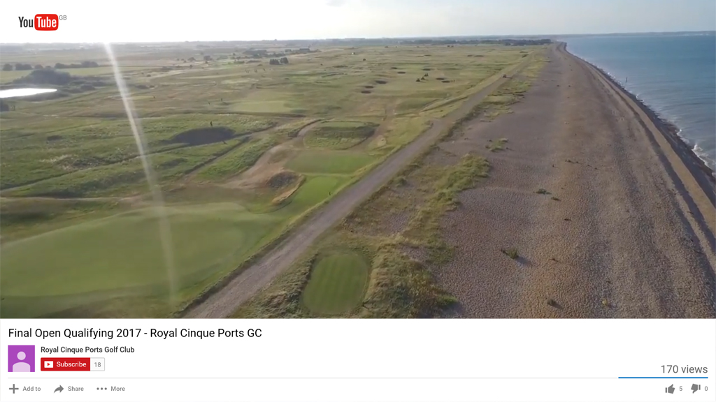 Royal Cinque Ports Open Qualifying preparation YouTube video 2