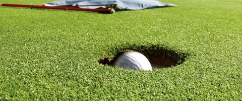 Golf ball - In the hole!
