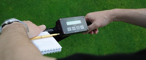 Moisture meter to record dry down rates