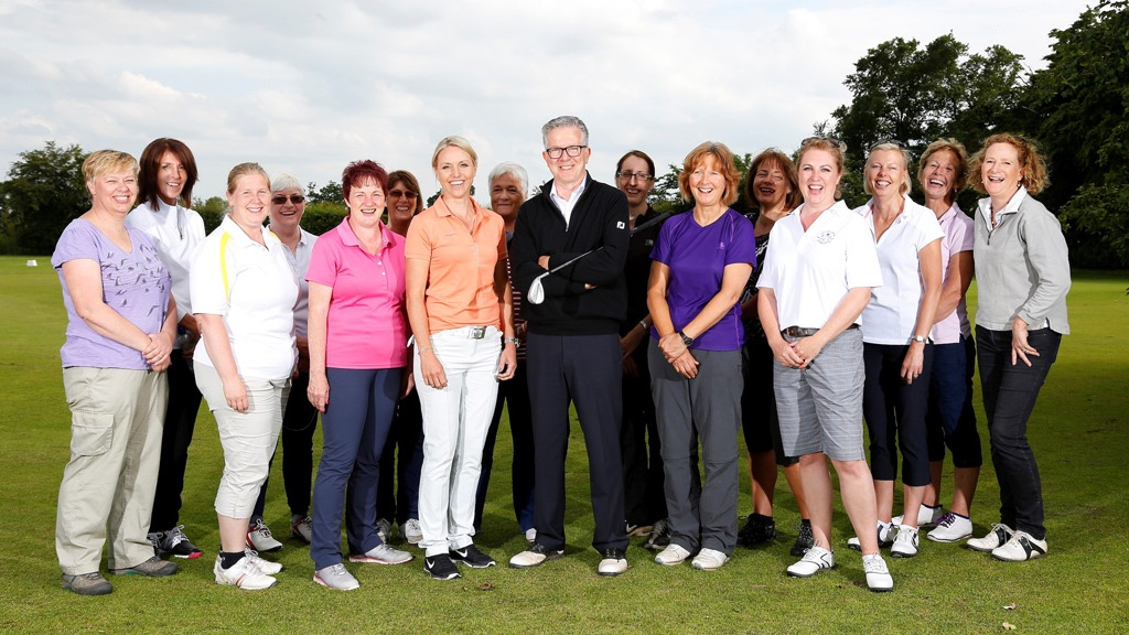 Lovegolf players with Alistair Spink Carin Koch