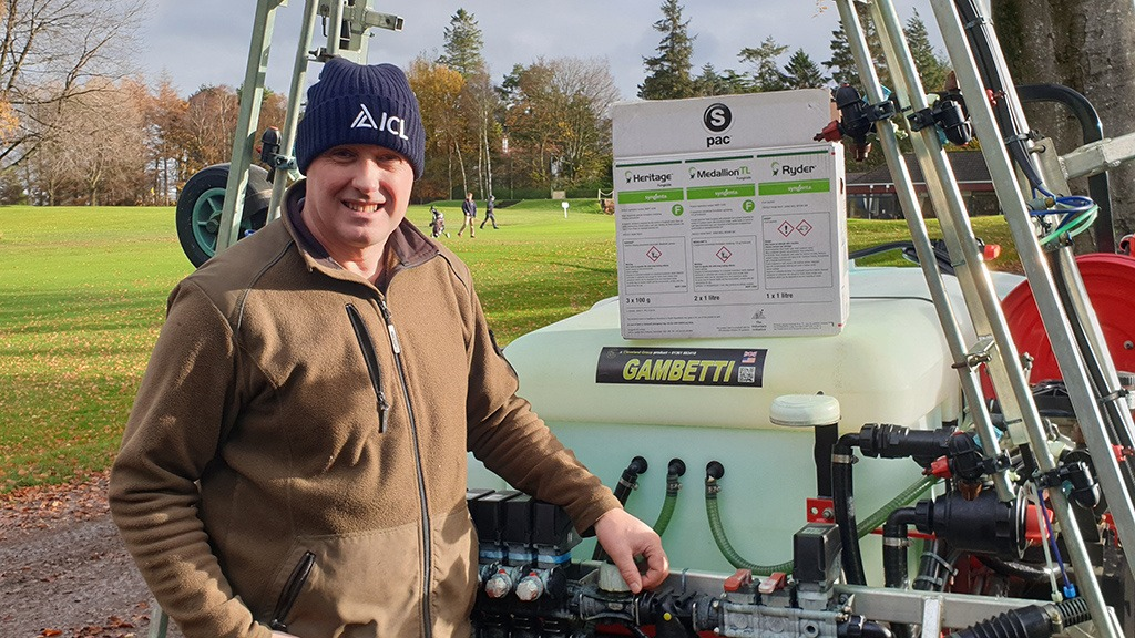 Steven Knaggs with FR321 box at Dumfries & County