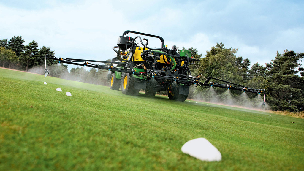 Spray application to turf